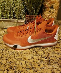 38ba0bef9c1a NIKE MEN KOBE X TB BASKETBALL SHOE ORANGE SILVER WHT 813030 801 SZ ...