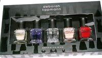 Deborah Lippmann Little Black Dress Set Red Pink Base Top Coat Cuticle Oil 5 Pie