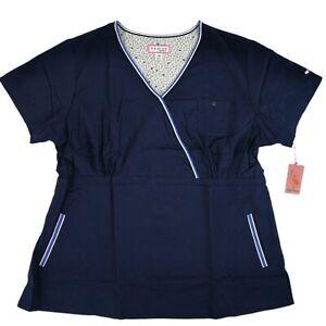 Koi-Scrub-Top-Women-039-s-3XL-162-12-Navy-Blue-Ali