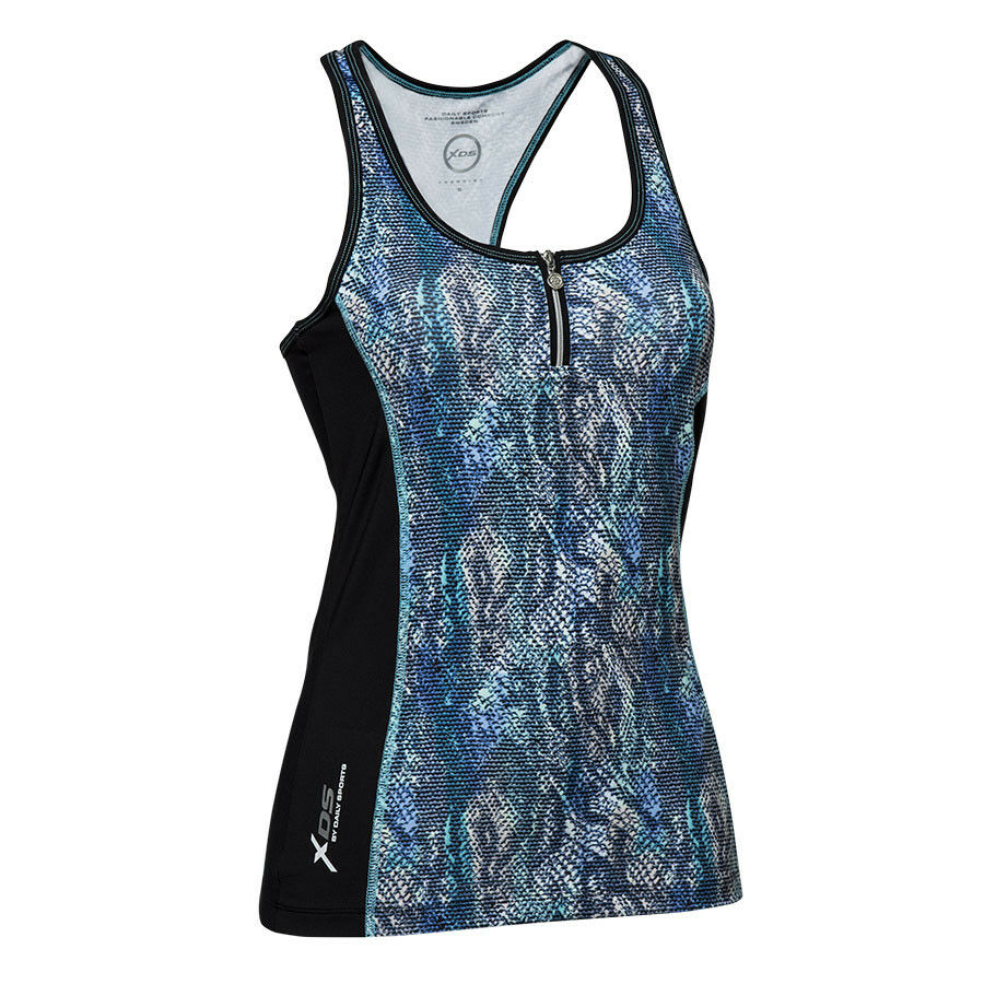 Daily Sports Gym Tank Top with Zip Front