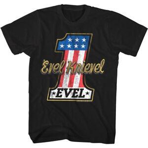 OFFICIAL-Evel-Knievel-Stars-amp-Stripes-Stunt-rider-Men-039-s-T-Shirt-Motorcycle-Biker