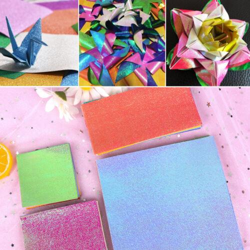 50x Origami Pearlescent Paper Folding Solid Color Papiere Kinder handgemacht DE