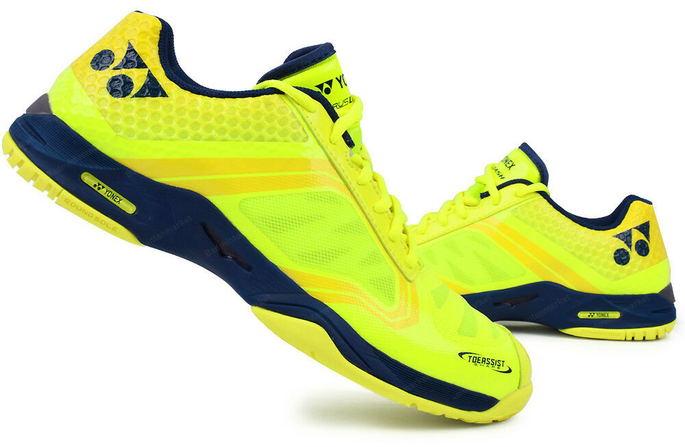 Yonex Unisex Power Cushion AERUS DASH Tennis shoes Yellow Navy Racquet All Court