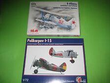 POLIKARPOV I-15 by PAVLA & I-15 by ICM - KOMBO SET 1/72