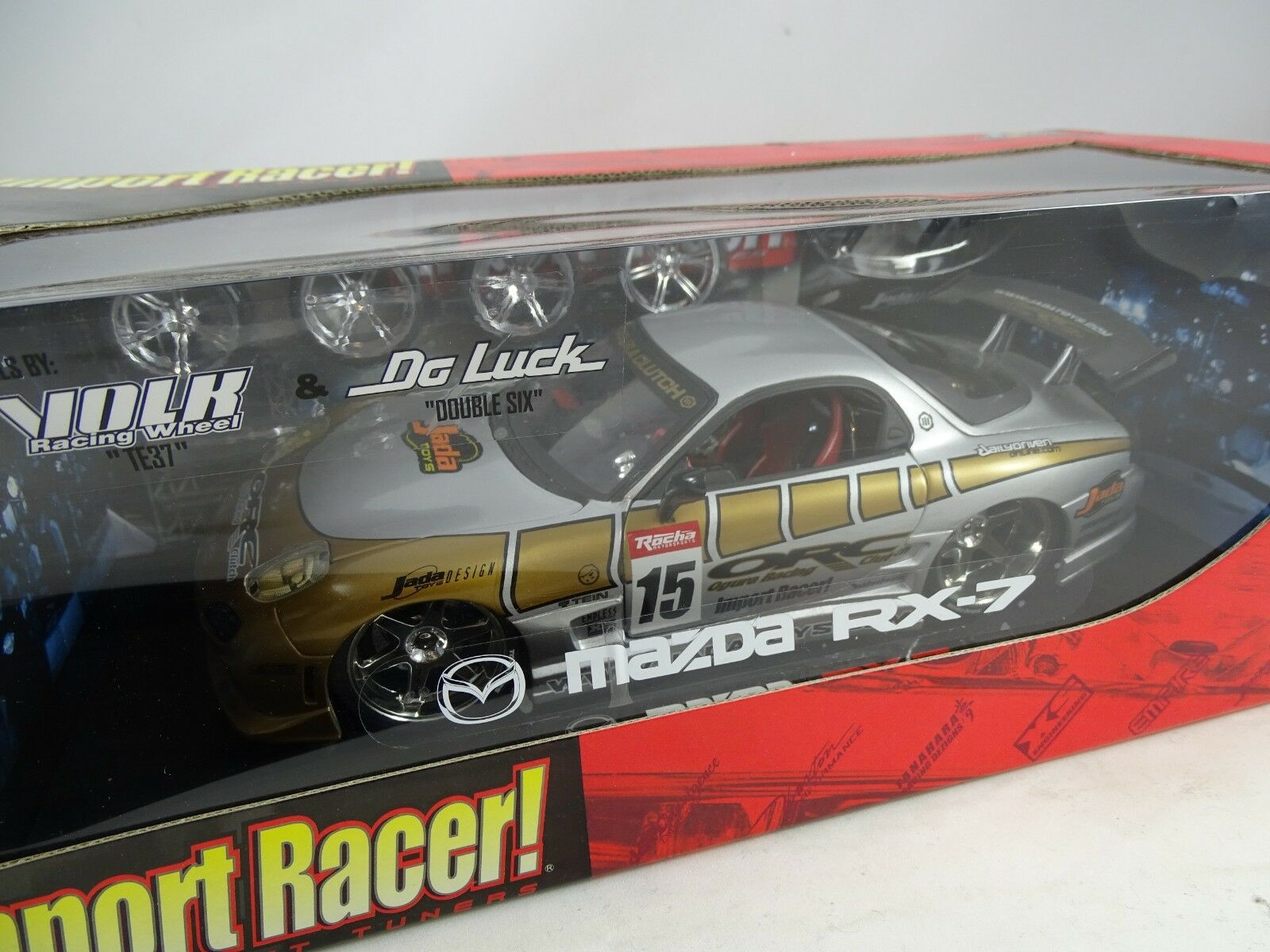1 18 Jada Toys  63524 mazda rx7  15 Import Racer ARGENT RARE §