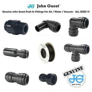 Push-Fit-Air-Fittings-Genuine-John-Guest-6-8-10-12-15-Air-Water-Tube-Hose-BLACK