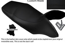 BLACK STITCH CUSTOM FITS HONDA TRANSALP XL 700 V 08-12 DUAL LEATHER SEAT COVER
