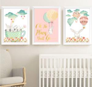 Image Is Loading Bunny Rabbit S Nursery Prints Set Of 3