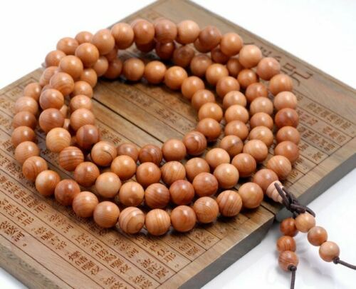 108PCS 8mm Rosewood Pearwood Beads Mala Beads Round 90182708-398