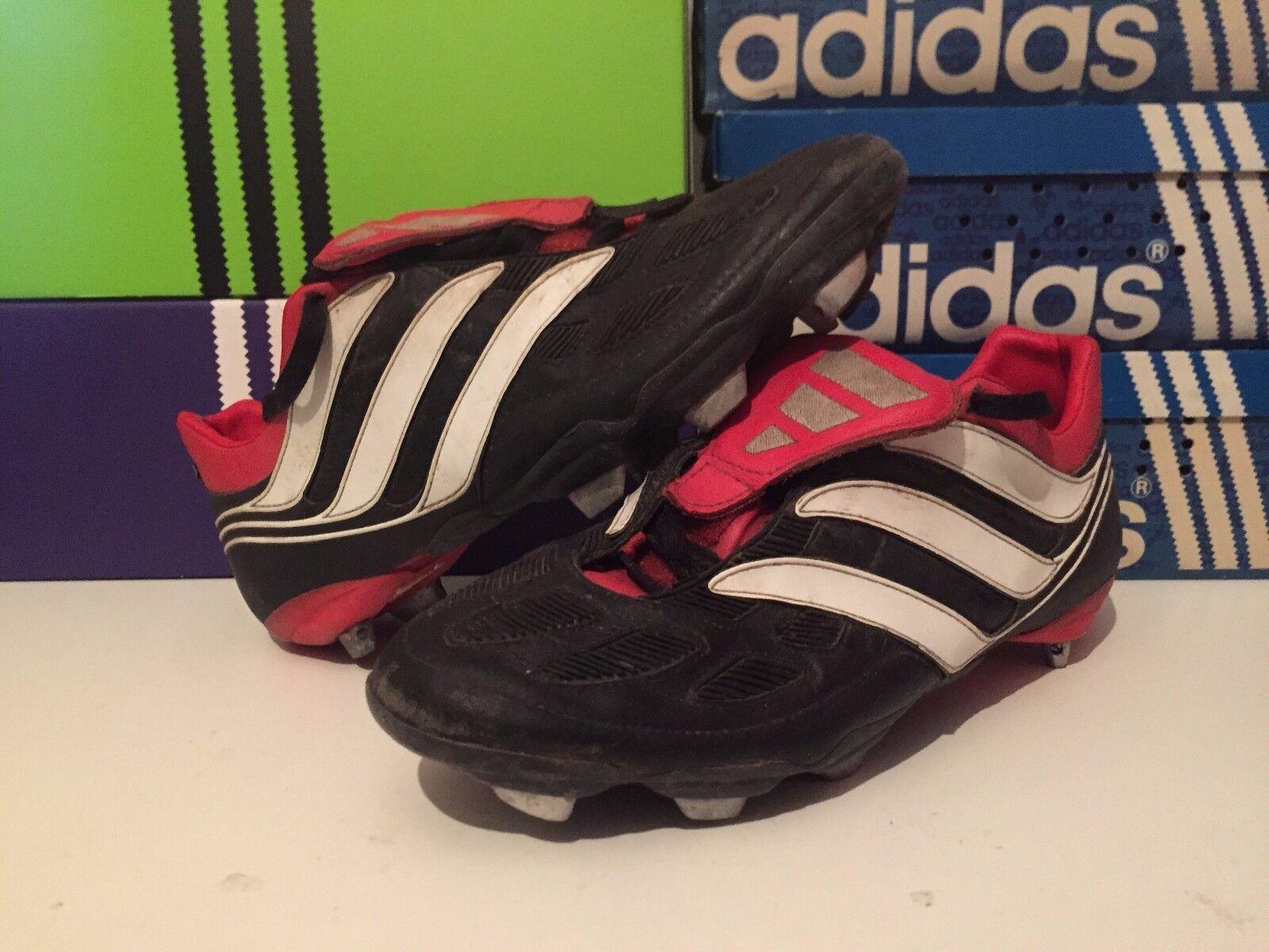 Adidas Pnetwerkator precisie Zwart Wit leder Grootte 10,5 44