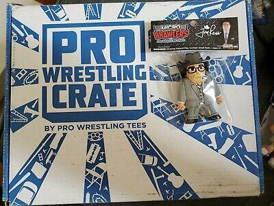 Micro Brawlers Jim Ross JR WWE Pro Wrestling Wrestle Crate RARE aew