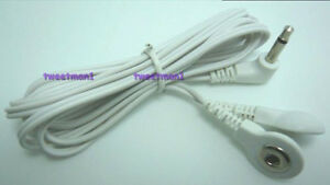 BONUS-Electrode-Lead-Wire-Cable-Connector-for-2-Snap-Pads-3-5mm-Plug-TENS
