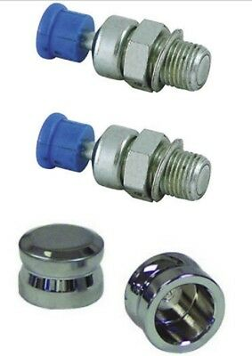 Drag Specialties Chrome Engine Compression Release Caps for Harley Davidson
