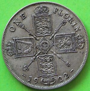 ROYAUME-UNI-ONE-FLORIN-GEORGES-V-1922