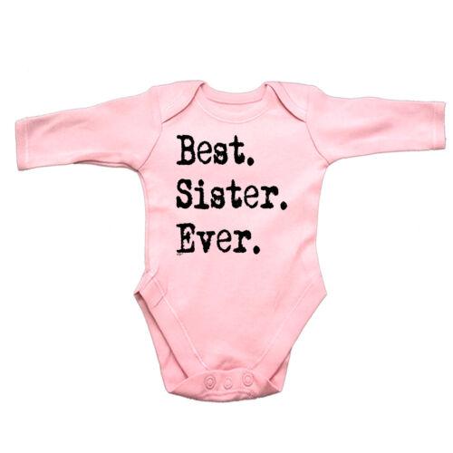 Best Sister Ever Funny Baby Infants Babygrow Romper Jumpsuit