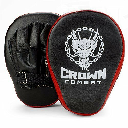 2-pack Crown Combat Curved PU Leather Punch Mitts