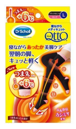 taglia Scholl Qtto lunghe 4906156601688 calze Japan Black Calda Sleep punta Medi Dr L qCwd0q