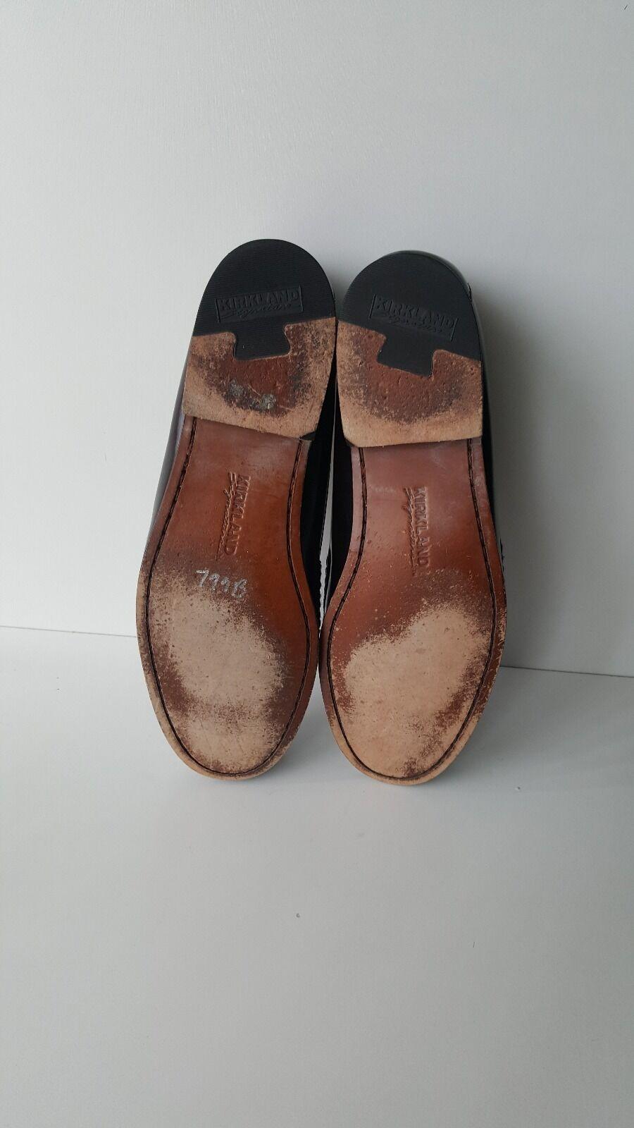Kirkland Signature Ox Blood Leather Dress Fashion Fashion Fashion Strap Mocs Penny Loafers 13 D 904f58