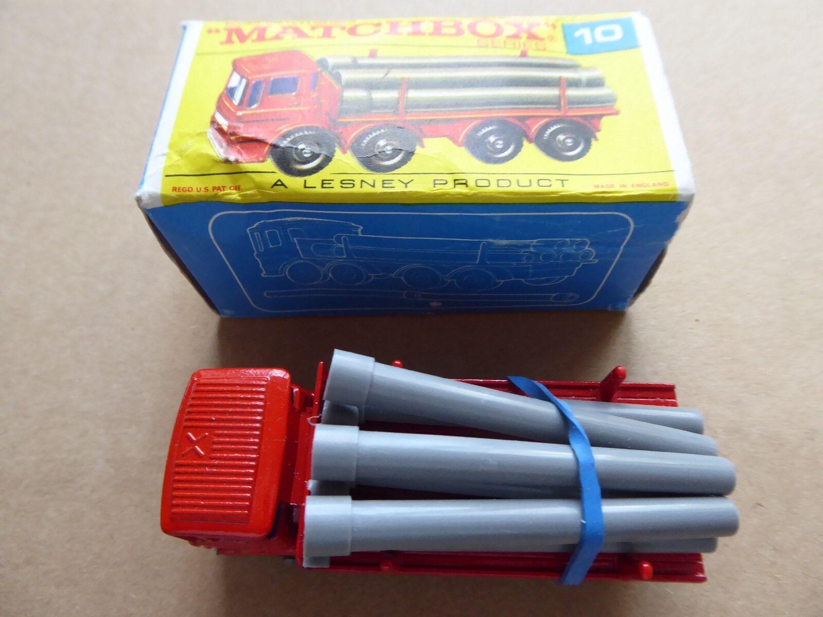 Matchbox nummer 10 - rohr lkw - original - im ausgezeichneten zustand - box