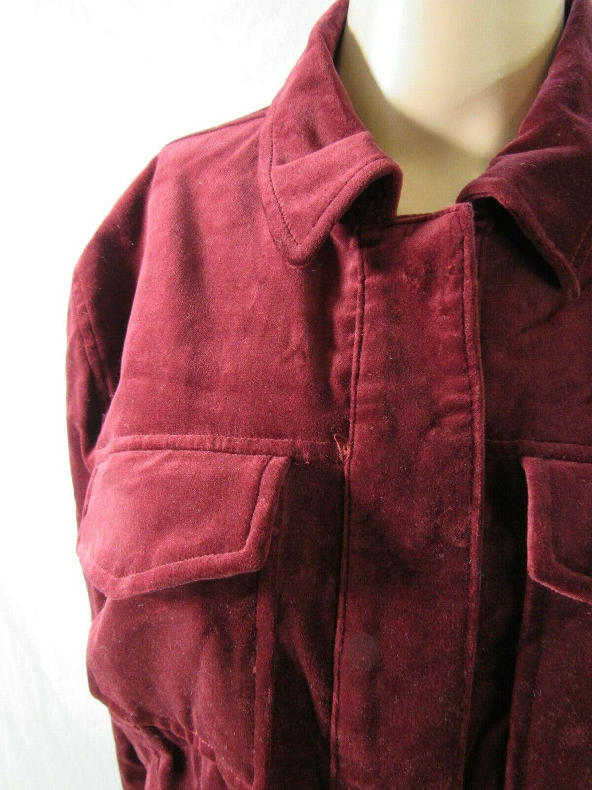 BB Dakota Red Velvet Jacket Blazer Size Large - image 2
