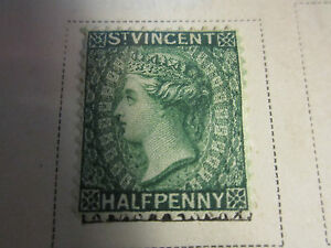 ST. VINCENT 1880 HALF PENNY & ONE PENNY STAMP & 3 EARLY 1910 STAMPS - ALL HINGED