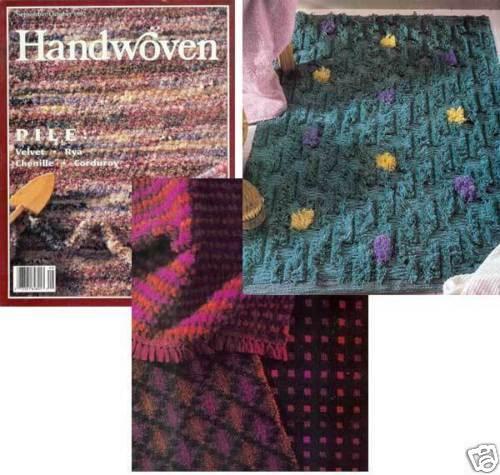 cat + ornaments Handwoven magazine sept//oct 1992: rosepath overshot rug