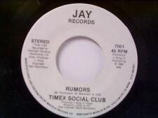 "TIMEX SOCIAL CLUB ""RUMORS / SAME"" 45 MINT UNPLAYED OLD STORE STOCK"