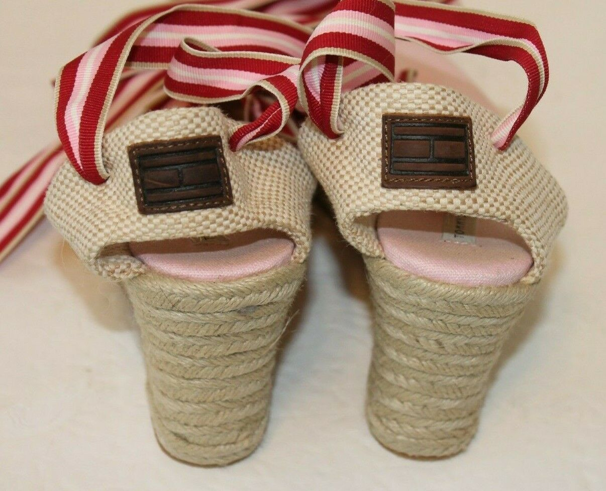 Tommy Hilfiger Womens 7M Pink Canvas Espadrille S… - image 3