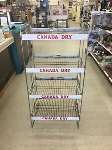 Admirable Details About Vintage Canada Dry Ginger Ale General Store Metal Wire Display Rack 4 Shelf Home Interior And Landscaping Ologienasavecom