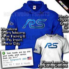 Ford Focus Fiesta RS Hoodie & TShirt - WRC Rally ST Racing Tee - Birthday Gift