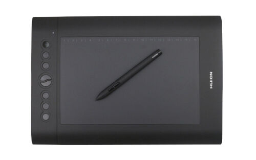 Huion H610 Pro Art Graphics Drawing Tablet  with Huion P80 Rechargeable Pen