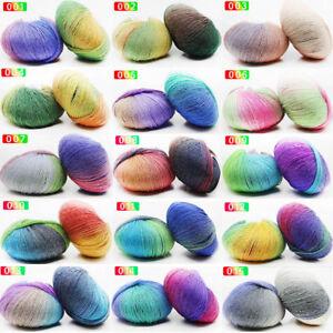Sale-Soft-Colorful-color-Wrap-ball-LOCA-Shawl-DIY-Hand-Knit-Yarn-50gr