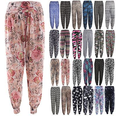 Aggressiv Womens Ali Baba Harem Trousers Pants Leggings Ladies Baggy Aladdin Boho Hippy SchöN In Farbe