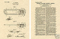 1st Chain Saw Patent Art Print Ready To Frame Vintage1924 Lumber Chainsaw