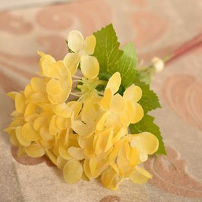 Stem Bridal Wedding Hydrangea Silk Flowers Artificial Bouquet Party Home Decor