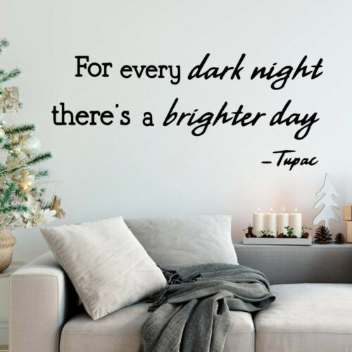 Arrivals brighter day Quotes Wall Stickers Self Adhesive Art Wallpaper Mural
