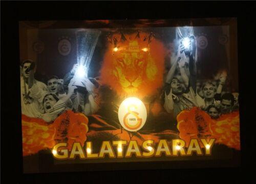 Galatasaray Uefa Champions LED Bild Beleuchtung Wohnzimmer Dekoration 45cmx65cm