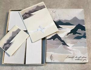 Vtg-Mead-Set-Cancelleria-Fogli-Lettera-Scrittura-Nota-Carte-Rocky-Montagne-1970
