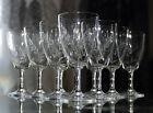 ANCIEN 11 verres à vin blanc en cristal grave TAILLE MEISENTHAL FRANCE ART DECO