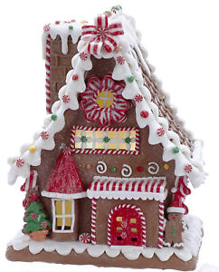 Christmas Gingerbread House.Details About Kurt Adler Christmas Gingerbread House Led W Timer New 2019 Gbj001 You Pick