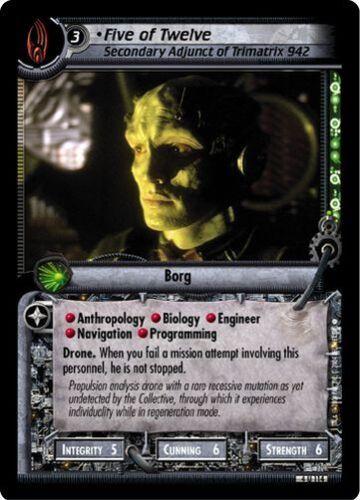 Secondary Adjunct 4U114 Star Trek CCG 2E Necessary Evil Five Of Twelve