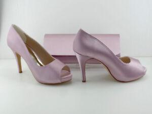 2325109f909 Details about Matching Shoes and Bag Pink Blush Satin 4.5' Heel .75'  Platform BNIB