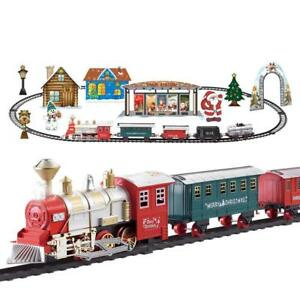 Santa-039-s-Express-Delivery-Train-Set-Christmas-Tree-Sounds-Lights-Battery-Display