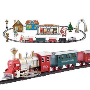 De Santa Conjunto Tren Árbol de Navidad con Sonido Luces Batería Expositor