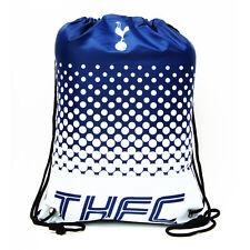 Official Tottenham Hotspurs Football School Black Sports Gym Trainer PE Bag