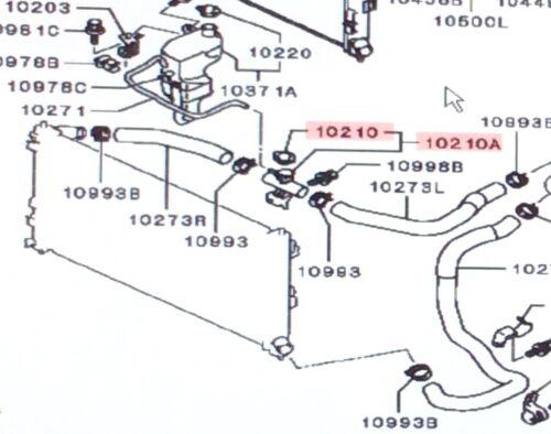 Genuine Mitsubishi Radiator Coolant Filler Fill Neck With Cap Lancer 2008-2015
