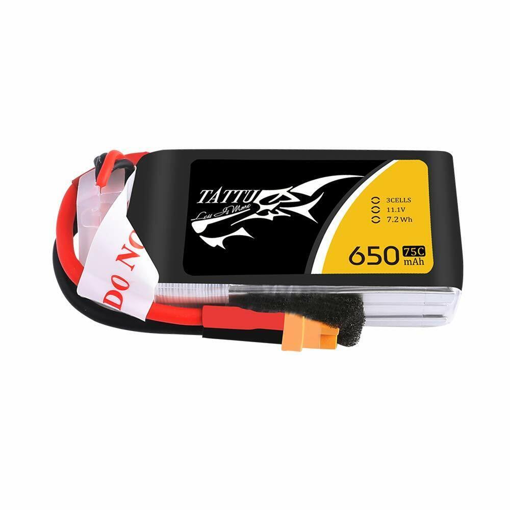 4X Tattu 650mah 650mah 650mah 3S 11.1V 75C Lipo Batteria XT30 Plug Per RC Elicottero FPV Quad 528c50
