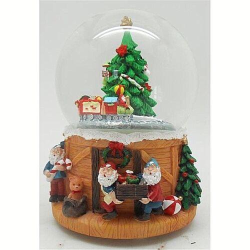 CARILLON Weihnachtsmann die oben und unten Treppe Cm,109 h-leuchten Musik 36883 Spieldosen