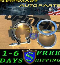 1 X 2.5'' V-BAND FLANGE & CLAMP KIT FOR TURBO EXHAUST DOWNPIPES