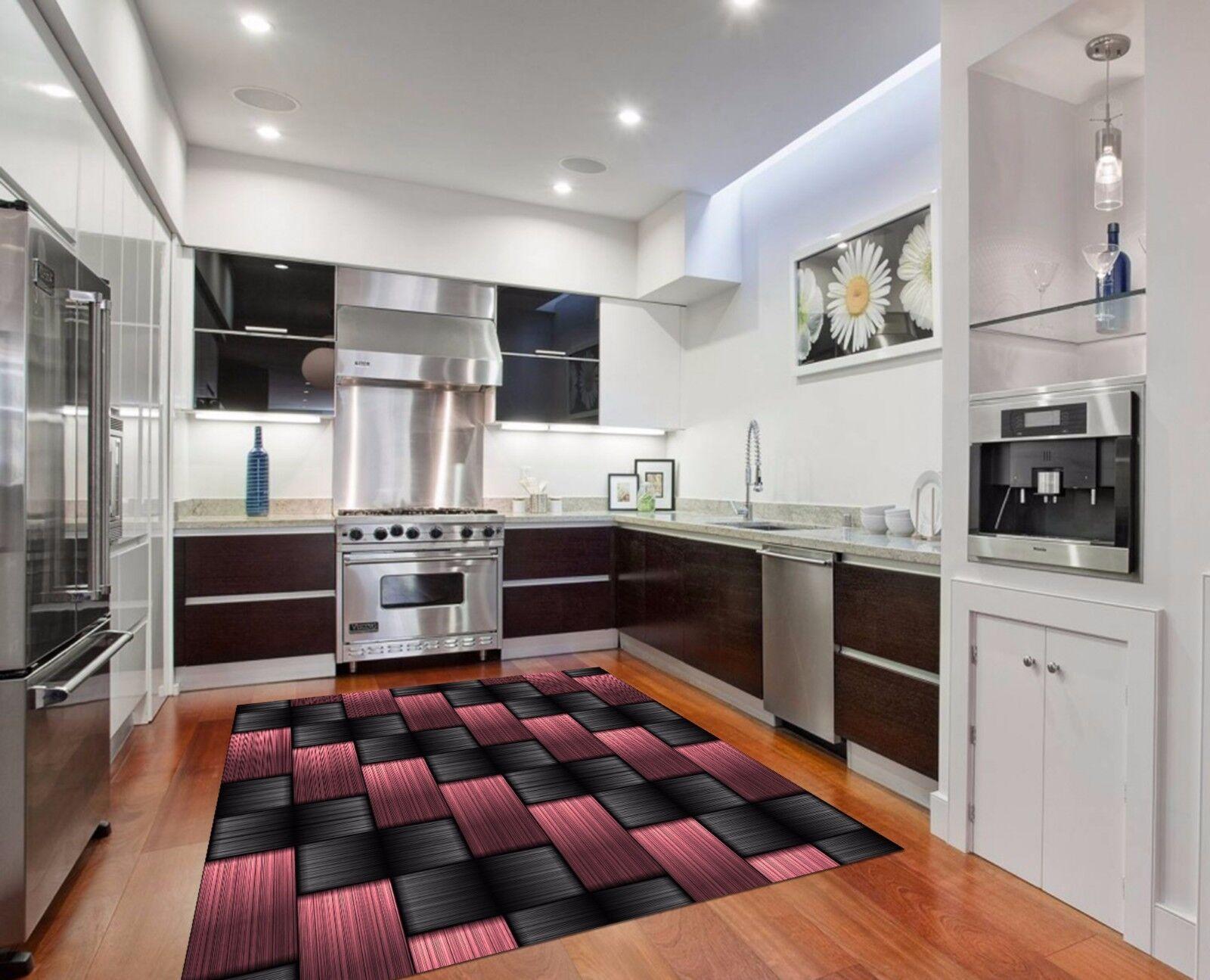 3D Weave Stripes 786 Kitchen Mat Floor Murals Wall Print Wall Deco UK Carly